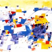 Media Tarde. 1998. Témpera sobre Papel. 75 x 110 cms. Omar Gatica